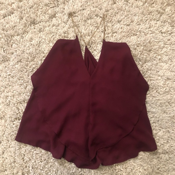Charlotte Russe Tops - NWT Charlotte Russe Gold Link Spaghetti Strap Top